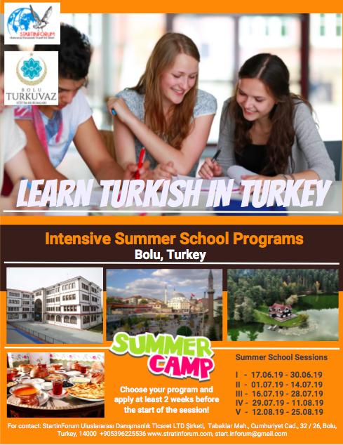 "Summer Intensive Program ""Learn Turkish in Turkey 2019"